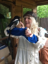 <h5>Bernard the curious Magpie</h5><p>With Bernard magpie, who resides at Brinsley Animal Rescue - June 2015  </p>