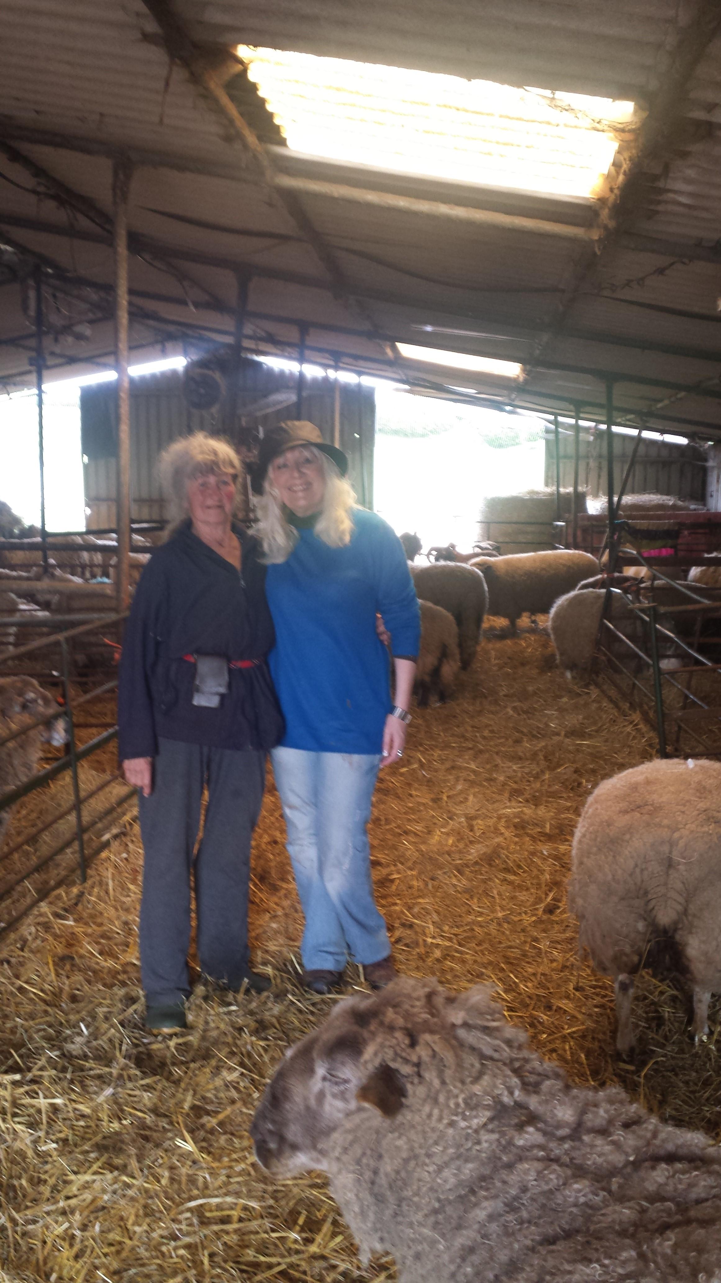 Carole Webb with Sharon Bull