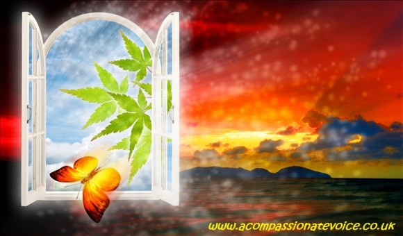 Another world window, abstract backgrounds