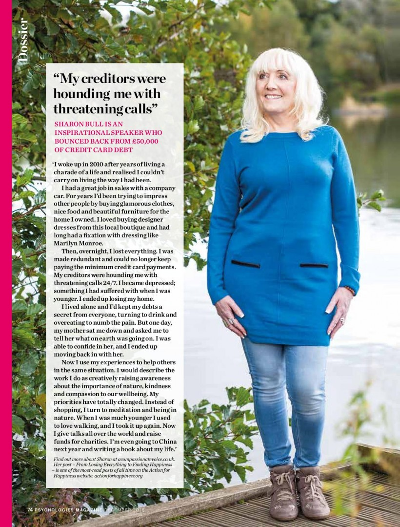 Psychologies December 2015 Feature