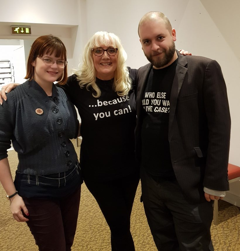 With Dan and Amy from Waterstones Nottingham