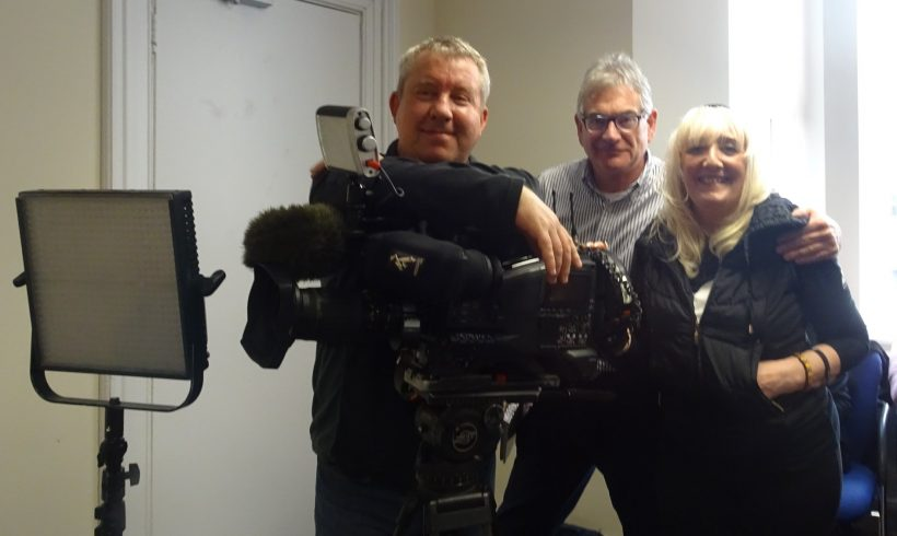 With BBC's Inside Out production team Rob and Darren during filming in December 2017